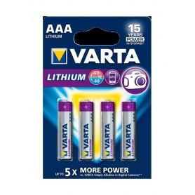 Varta - Baterii VARTA ULTRA LITHIUM LR03 / AAA / R03 / MN 2400 1.5V - Format AAA - BS137-10x www.NedRo.ro