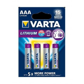 Varta - VARTA ULTRA LITHIUM LR03 / AAA / R03 / MN 2400 1.5V batterij - AAA formaat - BS137-10x www.NedRo.nl
