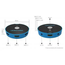 Vention - 4K 3D 1080P 3 Switch HDMI 3 IN 1 OUT cu telecomandă - HDMI adaptoare - V043 www.NedRo.ro