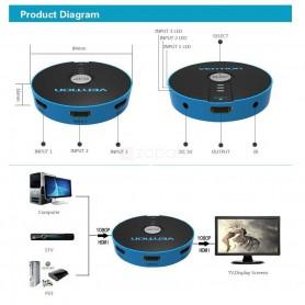 Vention, 4K 3D 1080P 3 Switch HDMI 3 IN 1 OUT cu telecomandă, HDMI adaptoare, V043, EtronixCenter.com