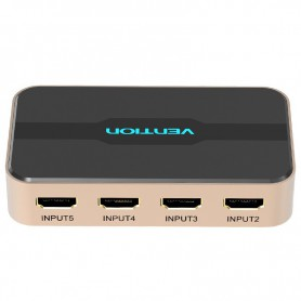 Vention - 4K 3D 1080P 5 in 1 uit HDMI Switch met afstandsbediening - HDMI adapters - V044 www.NedRo.nl