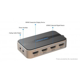 Vention, 4K 3D 1080P 5 In 1 Out HDMI Switch With Remote Control, HDMI adapters, V044, EtronixCenter.com