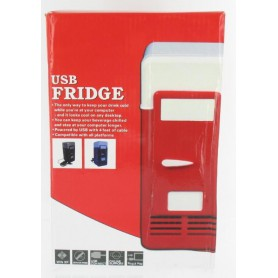 NedRo - Draagbaar USB Mini Koelkast Voor 1 Blikje Rood - Computer gadgets - YPU801-C www.NedRo.nl