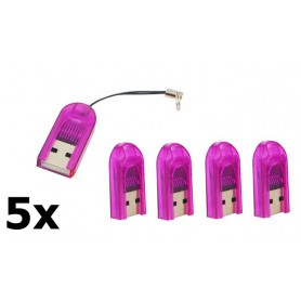 Dolphix - Micro SD MMC SDHC TF T-flash USB Memory Card Reader/Writer - SD and USB Memory - YPU206-CB www.NedRo.us