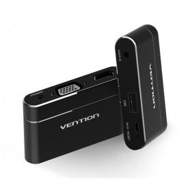 Vention - Adaptor 3in1 USB la convertor audio video HDMI si VGA - Adaptoare audio - V047-BL www.NedRo.ro