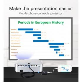 Vention - Adaptor 3in1 USB la convertor audio video HDMI si VGA - Adaptoare audio - V047-SI www.NedRo.ro