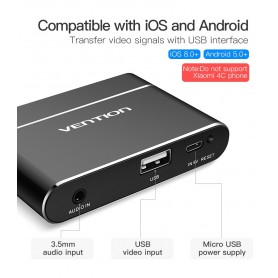 Vention, 3in1 USB Adapter to HDMI VGA Audio Video Converter, Audio adapters, V047-CB