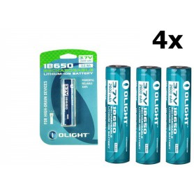 OLIGHT - Olight 2600mAh 3.6V 18650 Rechargeable Li-ion Battery for M-serie - Blister - Size 18650 - NK378-CB www.NedRo.us