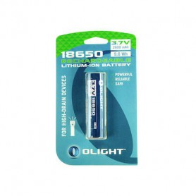 OLIGHT - Olight 18650 2600mAh oplaadbaar accu voor M-serie - Blister - 18650 formaat - NK378 www.NedRo.nl