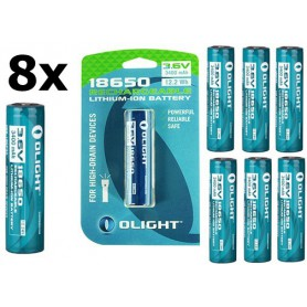OLIGHT - Olight 3400mAh 3.6V 18650 Rechargeable Li-ion Battery for M-serie - Blister - Size 18650 - NK379-CB www.NedRo.us