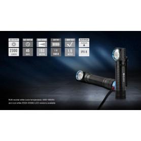 OLIGHT - Olight H2R Nova hoofdlamp met Olight 3,7V 18650 3000mAh oplaadbare accu - Zaklampen - NK381 www.NedRo.nl