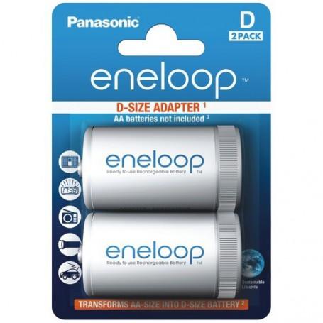Panasonic, Panasonic Eneloop Adapter AA R6 naar D Mono R20, Batterijen accessories, BS143-CB, EtronixCenter.com