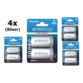 NedRo - Panasonic Eneloop Adapter AA R6 to D Mono R20 - Battery accessories - BS143-CB www.NedRo.us