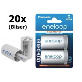 NedRo - Adaptor Panasonic eneloop R20 D de la R6 AA - Accesorii pentru baterii - BS143-CB www.NedRo.ro