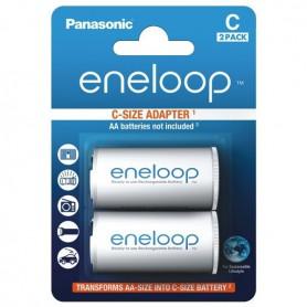 Panasonic - Panasonic Eneloop Adapter AA R6 naar Baby C - Batterijen accessories - BS142-CB www.NedRo.nl