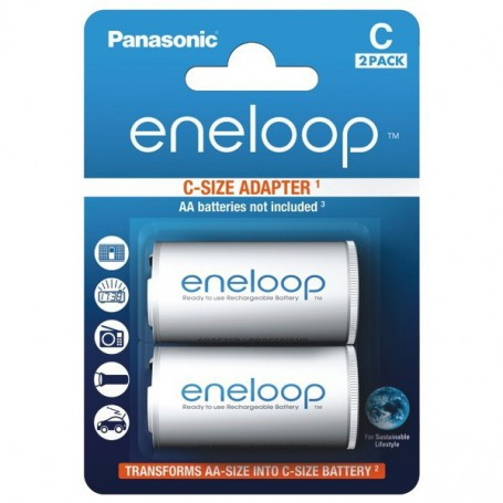 Panasonic - Panasonic Eneloop Adapter AA R6 to Baby C - Battery accessories - BS142-CB