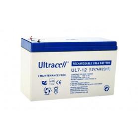 Ultracell UL7-12 12V 7Ah 7000mAh Oplaadbaar Loodaccu