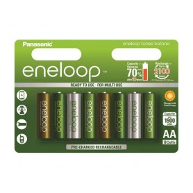Eneloop, AA 8-Pack Panasonic Eneloop Botanic Limited Edition, Format AA, NK266-CB, EtronixCenter.com
