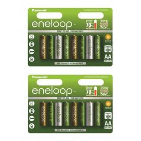 Eneloop - AA 8-Pack Panasonic Eneloop Botanic Limited Edition - AA formaat - NK266-2x www.NedRo.nl