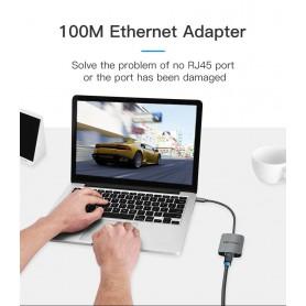 Vention, Adaptor USB-C Tip C USB C la RJ45 100Mbs Female Convertor, Adaptoare USB , V051, EtronixCenter.com