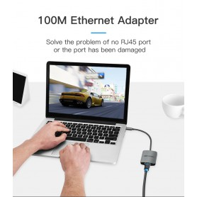 Vention - USB-C C Type USB C To RJ45 100Mbs Female Adapter - USB adapters - V051 www.NedRo.us