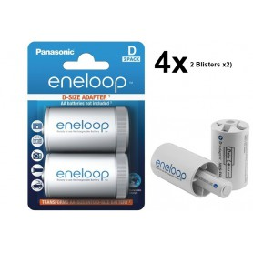 Panasonic - Panasonic Eneloop Adapter AA R6 to D Mono R20 - Battery accessories - BS143-CB