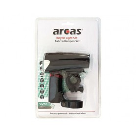 arcas - Arcas Bikelight set incl. 4x AA + 2x AAA batteries - Flashlights - BS145 www.NedRo.us
