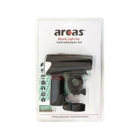 arcas - Set de iluminat pentru biciclete Arcas inclus 4x AA + 2x baterii AAA - Lanterne - BS145 www.NedRo.ro