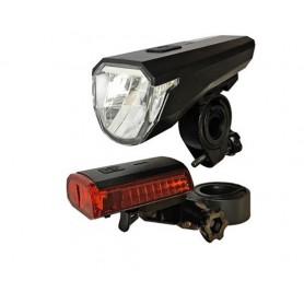 arcas - Set de iluminat pentru biciclete Arcas cu baterii Li-polimer de 3.7V încorporate + cablu de încărcare USB - Lanterne ...