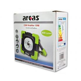 arcas - Arcas 10W COB LED lampă de construcție 800 lumeni cu baterie reincarcabilă 3600mAh 3.7V incorporată - Lanterne - BS14...