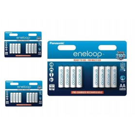 Panasonic - AA HR6 R6 Panasonic Eneloop 1.2V 1900mAh Oplaadbare Batterij - AA formaat - BS150-3x www.NedRo.nl