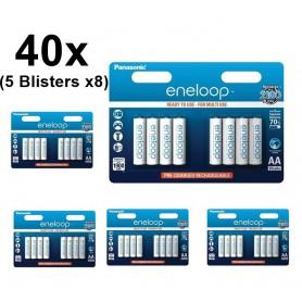 Panasonic - AA HR6 R6 Panasonic Eneloop 1.2V 1900mAh Oplaadbare Batterij - AA formaat - BS150-5x www.NedRo.nl