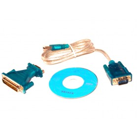 USB to RS232 Com Port 9 PIN Serial DB25 DB9 Adapter Cable Converter