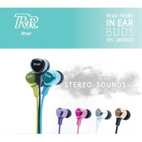 ROAR - ROAR iPhone / iPad Stereo Earphone 3.5mm Jack - Headsets and accessories - AL1104-CB www.NedRo.us