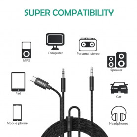 Wofalo - Wofalo Car Aux Audio Cable, 2 in 1 Type C to 3.5mm with 3.5mm Male to Male - Audio cables - AL1015 www.NedRo.us