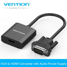 Vention, VGA la HDMI Convertizor Cablu analog AV la convertor digital, Adaptoare VGA , V071, EtronixCenter.com