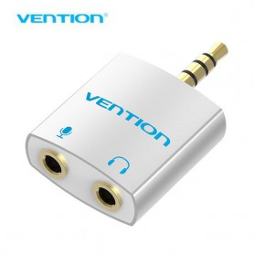 Vention - 3.5mm Male to 2 x 3.5mm Female Mic + Audio Adapter - Audio adapters - V066 www.NedRo.us