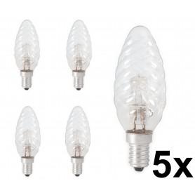 Calex - Calex E14 28W(37W) Halogen Twist Candle Lamp 230V BW35 krystal clear - Halogen Lamps - CA0352-CB www.NedRo.us