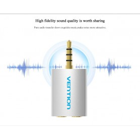 Vention - 3.5 mm Male to 2 x 3.5 mm Female Audio Splitter Adapter - Audio adapters - V067