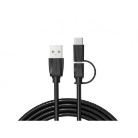 Vention, USB2.0 A Male to Micro USB B Male Cable with Type-C Adapter, USB to USB C cables, V077