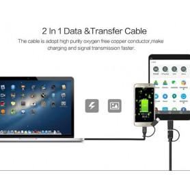 Vention - Cablu USB2.0 A Male la Micro USB B Male cu adaptor Type-C - Cabluri USB la USB C - V077 www.NedRo.ro