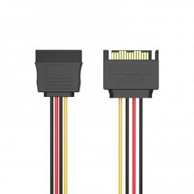 Vention, Cablu prelungitor alimentare SATA 15 pini (Male-Female), Cabluri Molex și Sata, V080, EtronixCenter.com
