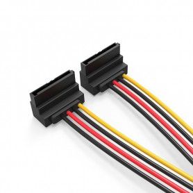 Vention, SATA 15-Pin 1 Male to 2 Female Hard Disc extend cable 0.15M, Molex and Sata Cables, V081, EtronixCenter.com