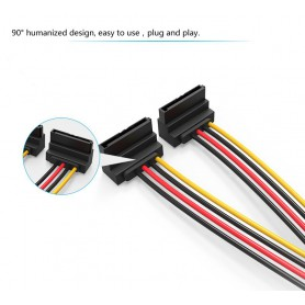 Vention, SATA 15-Pin 1 Male to 2 Female Hard Disc extend cable 0.15M, Molex and Sata Cables, V081
