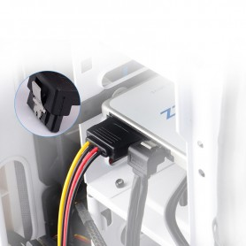 Vention, SATA 15-pins 1 Male naar 2 Female harde schijf verlengkabel 0,15M, Molex en Sata kabels, V081, EtronixCenter.com