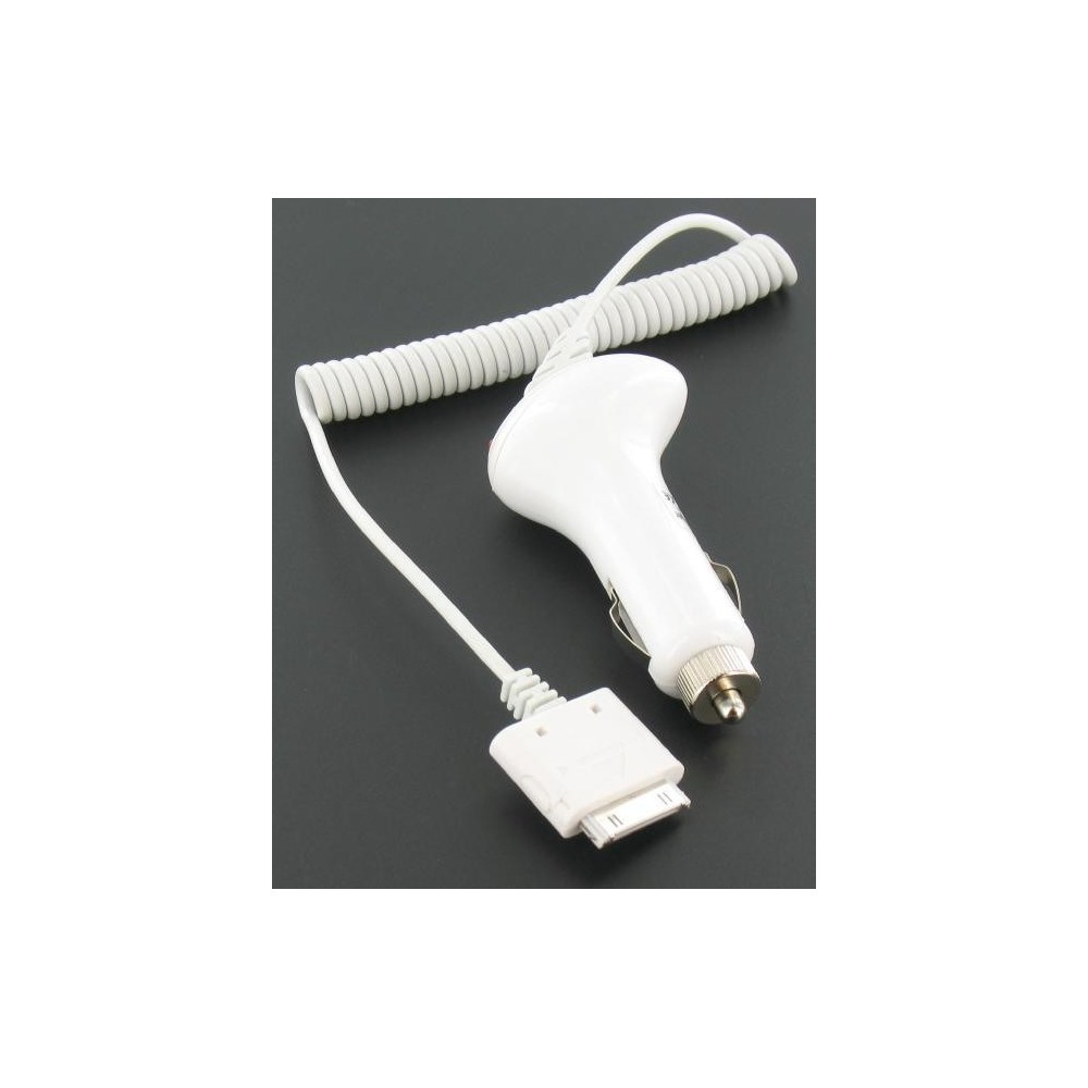 Auto Oplader Voor iPhone 3G/3GS/4 Wit 00347