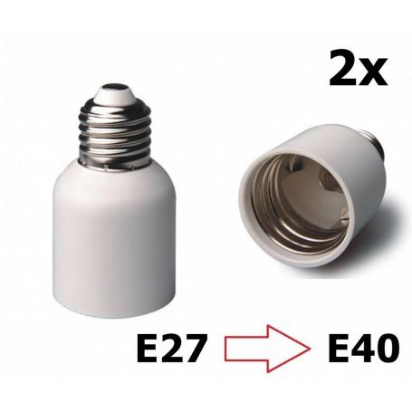 NedRo - E27 to E40 Socket Converter - Light Fittings - LCA46-CB www.NedRo.us