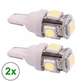 NedRo - 2 stuks T10 5 SMD LED kentekenverlichting voor auto's - Autoverlichting - AL692 www.NedRo.nl