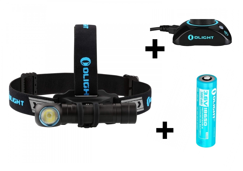 Olight H2R 2000 Lumen Neutral White LED Rechargeable Headlamp /& Battery