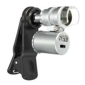 NedRo - 8MM 60x Zoom microscoop loep loeplens met LED UV - Loepen en Microscopen - AL465-CB www.NedRo.nl